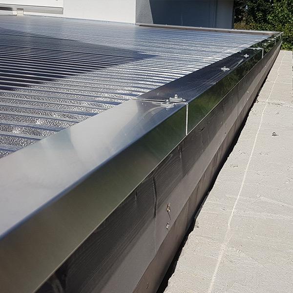 Carport Abdeckprofil aus Aluminium
