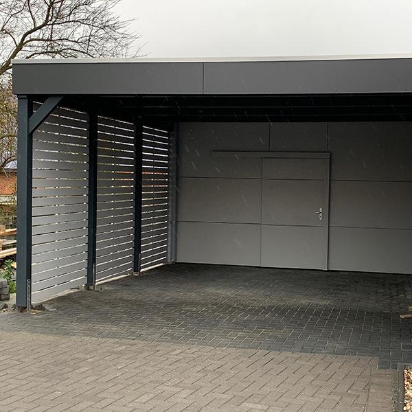Carport Ausstattung: HPL-Blende
