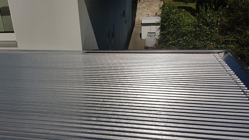Carport Dacheindeckung: Aluminium Trapezblech
