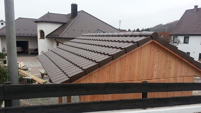 Carport Dacheindeckung mit Dachpfannen