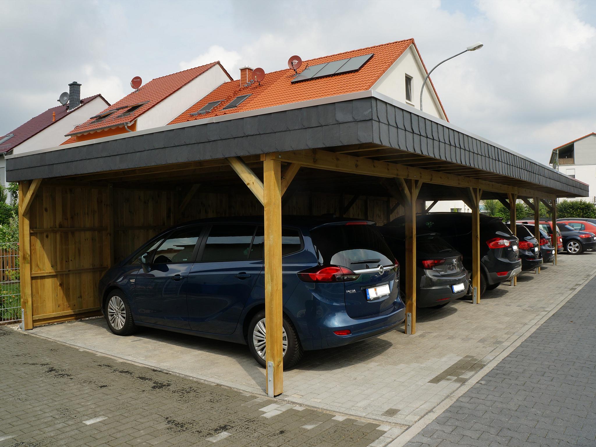 Carport Reihenanlage für viele Autos
