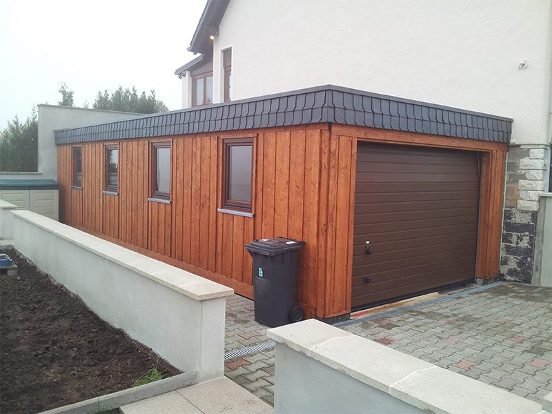 Einzelcarport Sonderkonstruktion Garage aus Holz