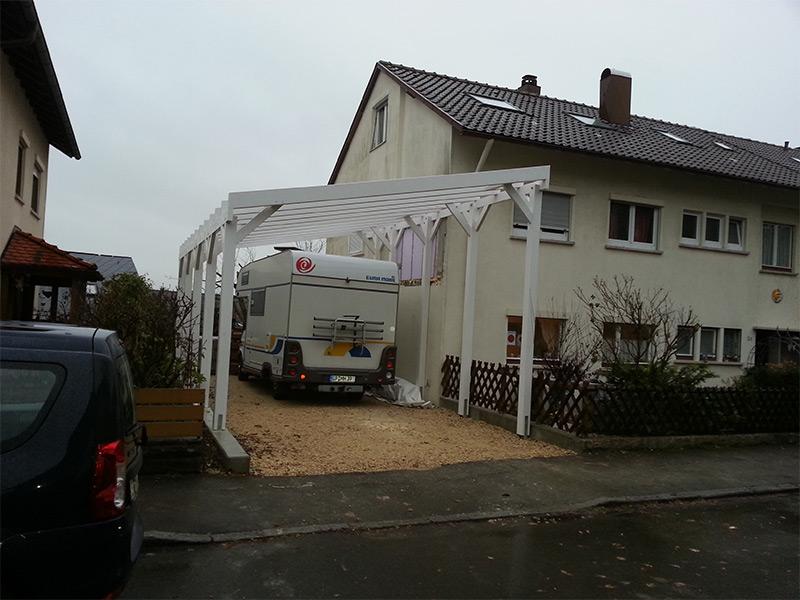 Wohnmobil-Carport mit Pultdach